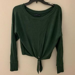 Abercrombie Cropped Long Sleeve Top